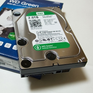 壊れかけの HDD WD5000AAKS-00YGA0 を WD20EZRX へ交換した